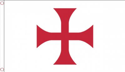 KNIGHTS TEMPLAR RED CROSS - 5 X 3 FLAG